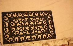 How To Make a Block Print Rug Using a Welcome Mat