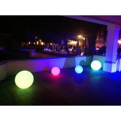 This innovative LED Glow Ball provides a unique and intriguing lighting with customized levels and colors for decks, pools, patios and any indoor space. A decoration that will create a magical atmosph