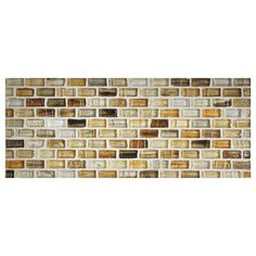 "Complete Tile Collection Zumi Glass Mosaic - Honey - Natural, 1/2"" x 1"" Mini Brick Recycled Glass Mosaic, MI#: 038-G2-263-202, Color: Honey"
