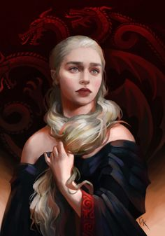 Game of Thrones - Daenerys Targaryen by George Kvavadze on ArtStation Arte Game Of Thrones, Game Of Thrones Artwork, Game Of Thrones Funny, Daenerys Targaryen Art, Khaleesi, Game Of Trone, Mother Of Dragons, Fire And Ice, Valar Morghulis