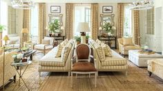 In Mark Sikes' living room from the 2016 Southern Living Idea House (above), we count 8 table and floor lamps and two overhead fixtures! Plus, there are even more light fixtures in this room that you can't see, like additional floor lamps and sconces. Beige Living Rooms, My Living Room, Living Room Decor, Beige Living Room Furniture, House Furniture, Furniture Stores, Cheap Furniture, Living Room Images, Living Room Designs