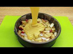 ľahký a rýchly recept na jablkový koláč, 5 minút práce a 25 minút pečenia # 63 - YouTube Quick Apple Pie Recipe, Apple Pie Recipes, Eclair, Special Recipes, Icing, Grilling, Deserts, Food And Drink, Cheese