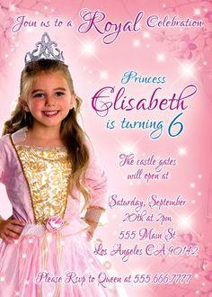 Royal Celebration invitation by BogdanDesign on Etsy Castle Gate, Royal Princess, Birthday Invitations, Celebration, Flower Girl Dresses, Birthday Parties, Wedding Dresses, Party, Fitness