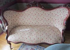 Highly Carved Antique Victorian Rococo Loveseat Sofa Pickup in NJ Only   eBay