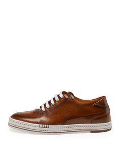 N2ZNY Berluti Playtime Leather Sneaker, Brown