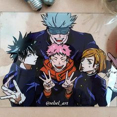 Painting on glass anime