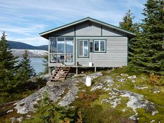 Cabin overlooking the Taku and Norris Glaciers near Juneau, Alaska, USA.  Contributed by Ron and Nan.