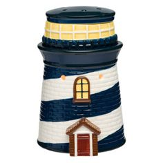 Scentsy Lighthouse Warmer  - Our Lighthouse Scentsy Warmer is a beautiful reproduction of the classic symbol of the sea. Fine crafting and hand painted details make this Scentsy Warmer a true artistic sculpture. You'll admire the beauty of its swirling blue paint and the beacon light that shines through its peeking vent holes. tracyleake.scentsy.us