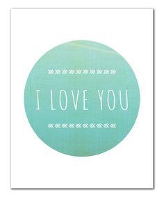 i love you simple print