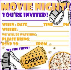 Free youre invited movie ticket invitation template wedding this site has lots of fill the blanks invitations this one is for a movie stopboris Images