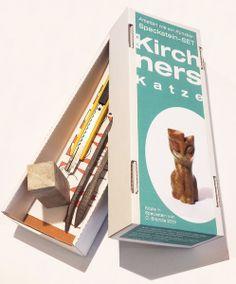 Kunst-Set Speckstein Kirchners Katze von formfalt Kunstprodukte® auf DaWanda.com