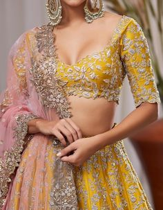Heavy zardozi and sequence embroidery lehenga wedding lehenga designer lehenga Indian wedding lehenga Hindu wedding Indian Wedding Lehenga, Indian Lehenga, Red Lehenga, Lehenga Choli, Yellow Lehenga, Anarkali, Pakistani Wedding Dresses, Wedding Lehenga Designs, Pakistani Bridal