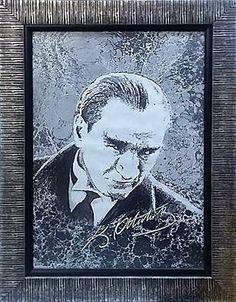 Atatürk 60x40 Acrilic on Marbling