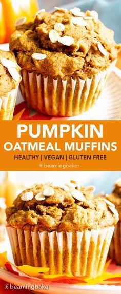 Pumpkin Oatmeal Muffins, Pumpkin Muffin Recipes, Pumpkin Breakfast, Pumpkin Chocolate Chip Muffins, Healthy Pumpkin Recipes, Vegan Pumpkin Muffin, Clean Eating Pumpkin Muffins, Recipes With Canned Pumpkin, Chocolate Chips