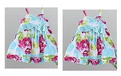 Ships Free- Holiday Edition Cute Infant Girl's Big Bow Floral Dress - size 3T