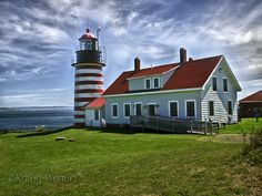 The West Quoddy Head Light in Lubec, Maine is the easternmost point in the USA.
