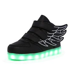 CIOR Wings Led Light Up Shoes 11 Colors Flashing Rechargeable Sneakers Ankel Boots for Kids Boys Girls ToddlerLittle KidsBig Kids >>> Click image for more details. (Note:Amazon affiliate link)