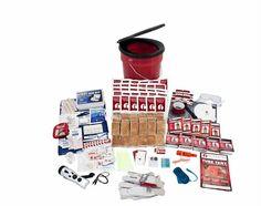 Buy Guardian Survival Gear OKFP 5 Person Guardian Bucket Survival Kit at UnbeatableSale Office Survival Kit, Emergency Survival Kit, Survival Gear, Survival Skills, Survival Prepping, Survival Stuff, Homestead Survival, Wilderness Survival, Survival Supplies