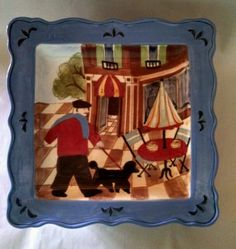 Outdoor French Bistro Plate by Jennifer Brinley