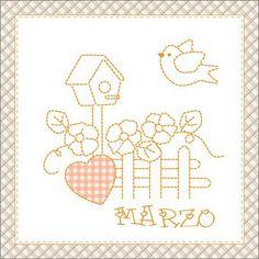 Teddy & Co.: stitch calendar  MARCH
