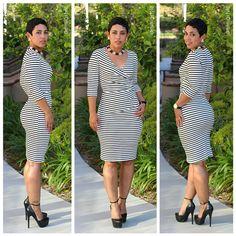 DIY Striped Dress + Steve Madden Heels - Mimi G Style