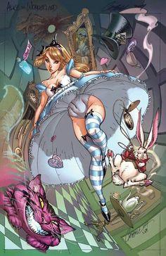 Alice in Wonderland by J. scott Campbell