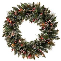 The Holiday Aisle Snow Tipped Berry Artificial Christmas Wreath Twig Wreath, Berry Wreath, Letter Wreath, Red Hydrangea, Lemon Wreath, Artificial Christmas Wreaths, Sunflower Wreaths, Dried Flowers, 3 D