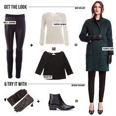 Un cappotto verde bosco per un outfit elegante con un vestito verde bosco. Tono su tono spezzato da una una sciarpa colorata. Ecco il mio look casual chic