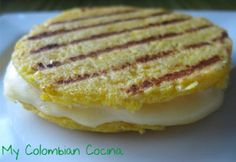 "Arepas de Choclo or ""Corn Kernels Dumplings"" --This corn kernel dumplings are sweet and full of flavour and with the cheese inside are even better. I think this can be a perfect snack or side dish for soups or other meals."