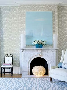 Amazing wallpaper!  I love the element of fun mixed in with traditional pieces.