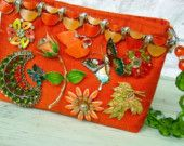 Garden Party Handbag in Orange