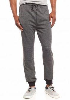 Red Camel Marled Gray Pocket Zip Jogger Pants