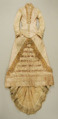 Dress  Date: ca. 1880 Culture: American (probably) Medium: silk