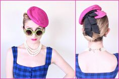 1940s Hat / VINTAGE / 40s Hat / Tilt / Toy / by HighHatCouture