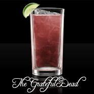 The Grateful Dead  1 part vodka  1 part light rum  1 part gin  1 part triple sec  1 part raspberry liqueur  2 parts sweet and sour mix  1 splash lemon lime soda