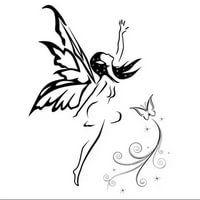 Small Fairy Tattoos, Small Tattoos, Fairy Drawings, Pencil Art Drawings, Unique Tattoos, Beautiful Tattoos, Flower Tattoo Foot, Flower Tattoos, Fairy Silhouette