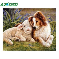 AZQSD Diamond Embroidery,Shepherd dog,5D,Diamond Painting,Cross Stitch,3D,Diamond Mosaic,Decoration,Christmas Gifts YZ1107 #Affiliate