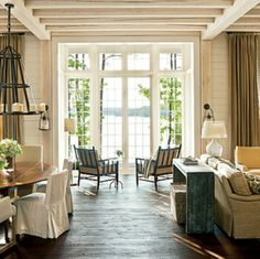 Large windows - French door to the back of the house -See all the way through the house, from front to back