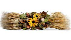 Wheat & Wildflower Centerpiece