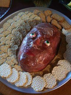 Flayed-skin cheeseball-disgustingly neat!!!