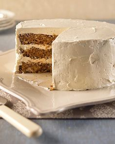 Brown Sugar Buttercream Frosting ~Use this brown sugar buttercream on our Triple-Layer Apple Cake. If the mixture seems to have separated after all the butter is incorporated, beat on medium-high until smooth. Reduce speed to low; beat 3 minutes more. Brown Sugar Buttercream Frosting Recipe, Frosting Recipes, Cake Recipes, Dessert Recipes, Buttercream Cake, Maple Buttercream, Caramel Frosting, Chocolate Frosting, Whipped Frosting