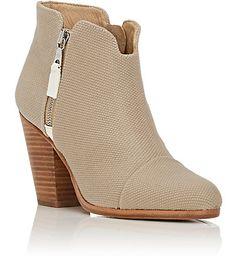 Rag & Bone Margot Canvas Ankle Boots - Boots - 505030652
