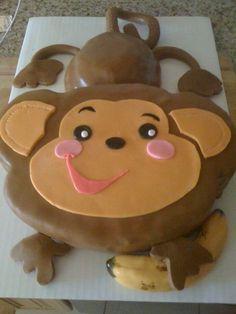 Monkey Baby Shower Cake — Baby Shower