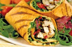 chicken wrap with spinach - Google Search