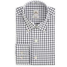Peter Millar Peter Millar Men'S Big-Tall Nanoluxe Twill Tattersall Shirt. #petermillar #cloth #