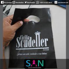 Cliente: Cicilia Scudeller Sacola plástica Boca de Palhaço PEAD http://sacolassan.com.br/sacolas-plasticas-personalizadas