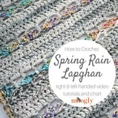 Spring Rain Lapghan - get the free crochet pattern, video tutorials, and chart on Moogly! Crochet Hood, Free Crochet, Knit Crochet, Heart Collage, Red Heart Yarn, Crochet Patterns, Crochet Tutorials, Video Tutorials, Afghans