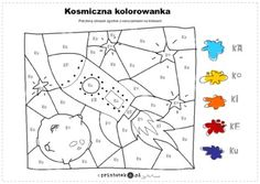 Kosmiczna kolorowanka - Printoteka.pl Quilting Tools, Playing Cards, Quilts, Schools, Speech Language Therapy, Playing Card Games, Quilt Sets, School, Log Cabin Quilts