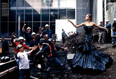 """Natalia Vodianova photographed by at MoMA Annie Leibovitz for """"High Art"""" for Vogue November 2004."""
