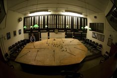 """plotting table Group Operations Room in the """"Battle of Britain Bunker"""" at RAF RAF Uxbridge."""